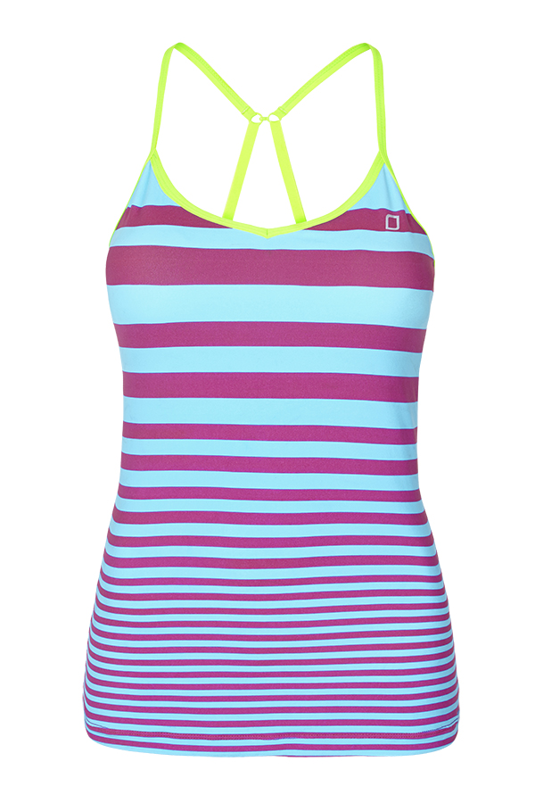 [로나제인]Lorna Jane Madison Excel Stripe Tank Violat/Lime