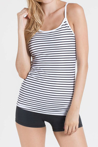 WITH Women Support Tank STRIPES B&W