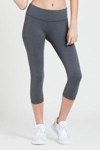 WITH Women Capris Solid HEATHER GRAY