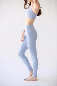 [해외배송][몬티엘]Montiel HIGH WAISTED FONDA LEGGING IN LILAC GREY