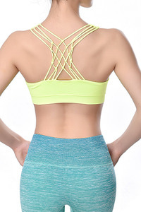 ITZON SEAMLESS BRA TOP NEON YELLOW [ONE SIZE]
