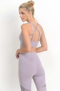 DOUBLE STRAP STAR SPORTS BRA - LAVENDER